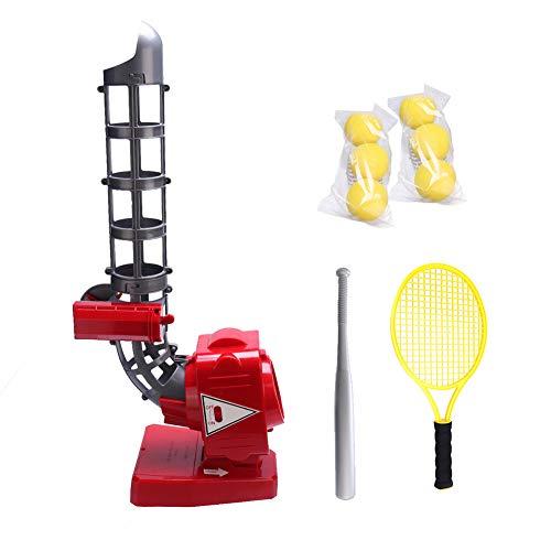 WWMH Juego De Tenis Y Beisbol para Niños Entrenamiento Lanzador Automático Bate De Béisbol Juego De Juego De Béisbol De Juguete con Raqueta De Tenis Y Bate De Beisbol