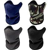 SATINIOR 4 Stücke Winter Winddichte Maske Halbe Gesichtsmaske Warme Winddichte Mundwärmer für Ski Fahrrad Radfahren Motorrad (Lang, Farbe Set 2)