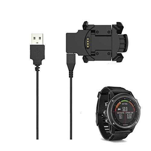 EXMART for Garmin Fenix 3 HR Charger, Replacement Charging Cable for Garmin Fenix 3 HR GPS Smart Watch (Garmin Fenix 3 HR Charger)