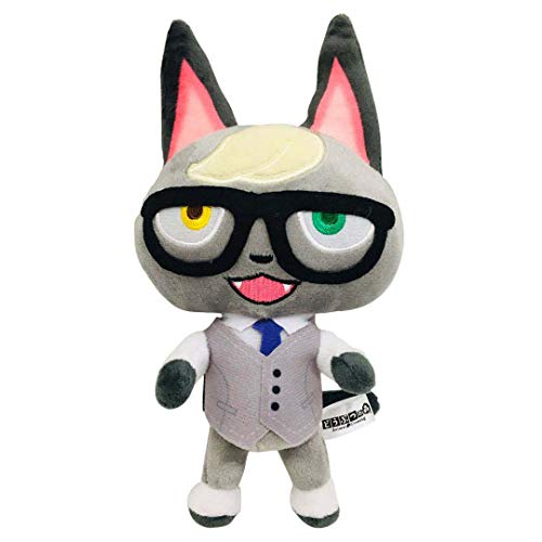 """Ycixri Animal Crossing New Leaf Plush Toy Suitable for Collection, Animal Crossing: New Horizons Stuffed Doll Toy for Boy Girl Christmas Halloween Birthday Gift, 8"""" (Raymond)"""