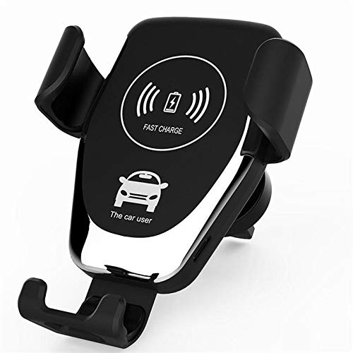 CHENXIAOJUN Draadloze autolader Draadloze Snelle oplader Auto Beugel Voor Samsung S9 Iphone X XS Max Auto Telefoon Houder Auto Air Vent Mount Houder GPS Stand, Zwart
