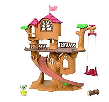 Calico Critters Adventure Treehouse Gift Set Collectible Dollhouse Figure and Accessories
