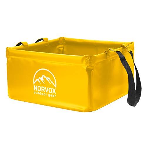 NORVOX Faltschüssel für Outdoor & Camping   Faltbarer Eimer / Falteimer   15L & 20L   Faltbare Schüssel   Camping Mülleimer / Faltbarer Mülleimer   Faltschüssel Camping   Outdoor Faltschüssel