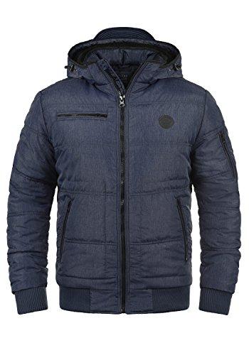 Blend Boris Teddy Herren Winter Jacke Steppjacke Winterjacke gefüttert mit Kapuze, Größe:L, Farbe:Navy Teddy (74655)