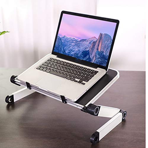 YUEXIN Portable Adjustable Aluminum Laptop Computer Desk/Stand, Foldable Laptop Stands, Ergonomic Laptop Stand Riser,Compatible Holder,Laptop Desk for Bed and Couch