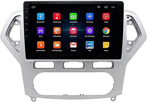 Hesolo Autoradio GPS Navigator es Compatible con Ford Mondeo 2007-2011 Navigator Android Pantalla Grande Reproductor de Video inverso Car MP5