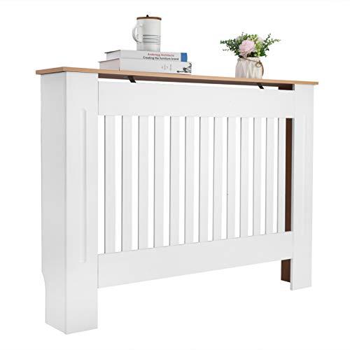 Walkchic Cubierta para radiador con diseño simple y tradicional con ventilación E1, tablero de fibra de densidad media, color blanco
