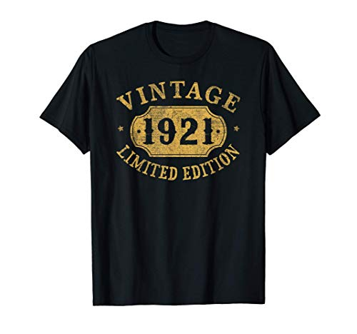 100 years old 100th Birthday Anniversary Gift Limited 1921 T-Shirt