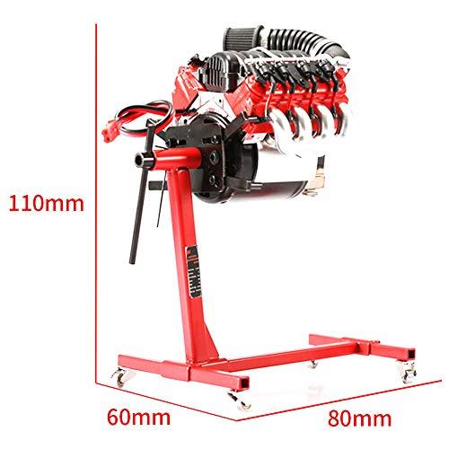 CVERY Motor Motorreparaturhalterung Simulierter rotierender Motorständer mit festem Stift für den Reparaturrahmen TRX4 SCX10