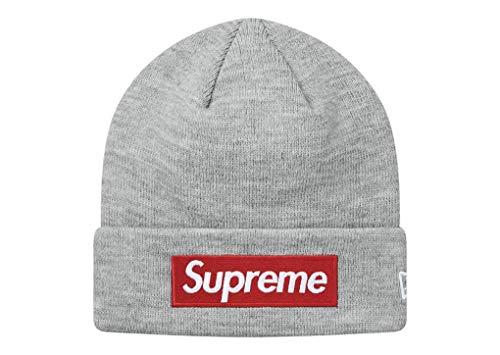 シュプリーム ニューエラ ボックスロゴ ビーニー Supreme x New Era Box Logo Beanie ニット帽 ニットキャップ (グレー(レッドBOX))