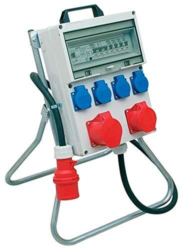 Du Nord-ouest 873979, KAYSER Support distributeur de courant IP44 A.2 x CEE 16/32 A L.2 m entrée 1 x CEE 32 A 4schuko M. fi