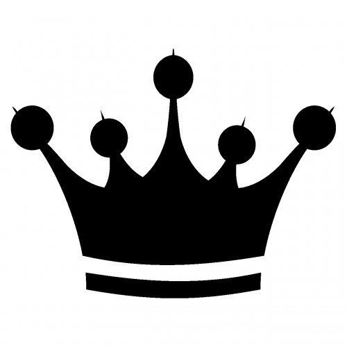 plot4u Aufkleber Krone Sticker Crown König in 6 Größen und 25 Farben (10x7,6cm Schwarz)