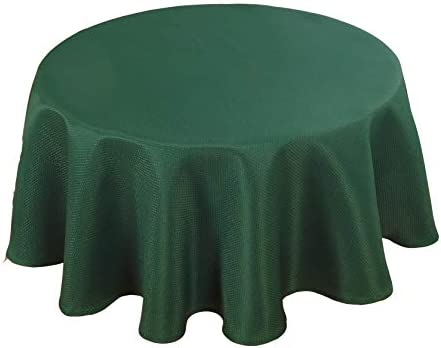Biscaynebay Textured Fabric Round Tablecloths Water Resistant Spill Proof Washable Tablecloths product image