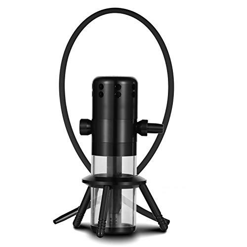 Shisha Portátil en el automóvil para Viajes Shisha de Estilo Leila Kit Completo Vástago de Tubo de Aluminio y Vidrio Templado