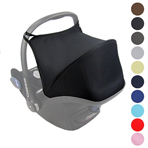 BambiniWelt Sonnenverdeck UV50+ für Maxi-Cosi CABRIOFIX, Sonnendach Babyschale Autositz Maxi Cosi (Schwarz)