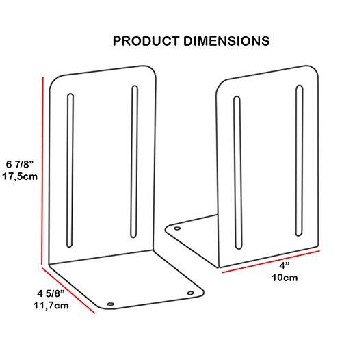 Acrimet Premium Metal Bookends Metallic Finishing (Heavy Duty) (Green Platinum) (1 Pair)