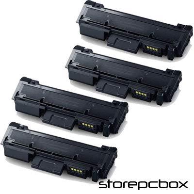 Storepcbox - KIT 4 Toner compatibile con Samsung D116 XPRESS M-2875FD, M2875FW, M2875ND, SL-M2625, SL-M2825ND, SL-M2675F, SL-M2875FD, M2885FW, M2835DW 3.000 PAGINE NERO, MULTI-PACK 4 PEZZI
