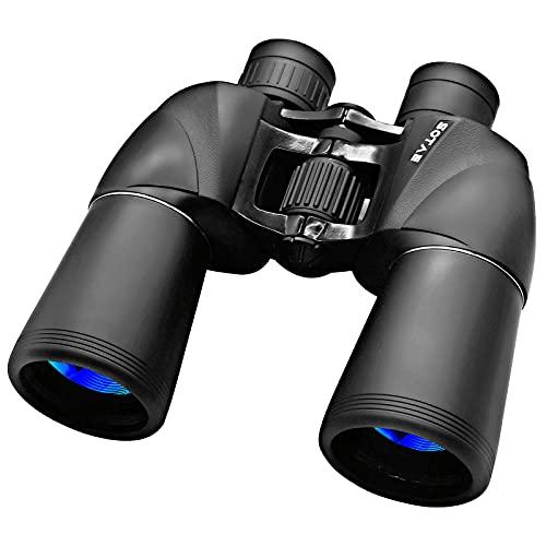 10x50 Fernglas für Erwachsene, professionelles wasserdichtes und beschlagfreies HD-Fernglas, langlebiges und klares FMC BAK4 Prisma, geeignet für Vogelbeobachtung, Reise und Jagd