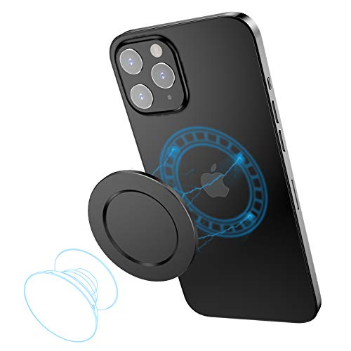 SUPERONE Compatible with iPhone 12 Mag Safe P-Socket Base【Removable and Wireless Charging Compatible】 Designed for P-Socket, Phone Ring Holder