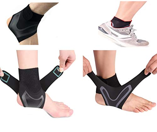 1 Pair - Ankle Brace & Ankle Support for Women & Men, Compression Sleeve - Ankle Wrap for Sprained Ankle, Plantar Fasciitis&Achilles Tendonitis with Arch Support, Injury Recovery for Sports, 1 Size Fits All