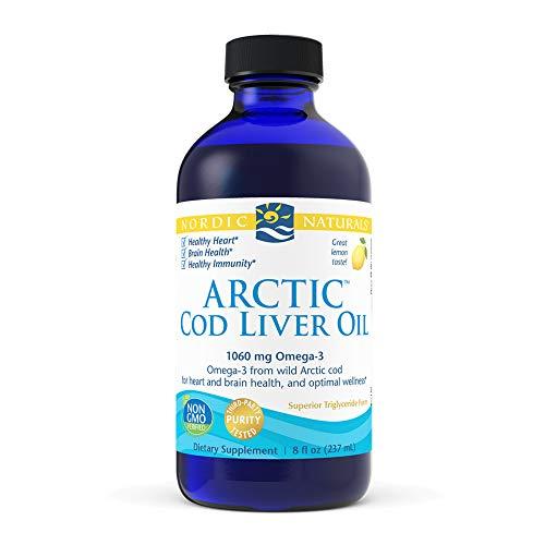 Arctic Cod Liver Oil, Lemon Flavor, 8 fl oz (237 ml) - Nordic Naturals