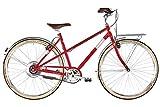 Ortler Bricktown Zehus Classic - Bicicleta eléctrica (55 cm), color rojo