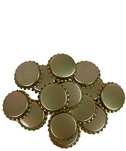 Chapas para botellas de cerveza doradas pack de 50 chapas ideales para botellines para hacer cerveza artesana chapa con diametro 26mm color dorado cierre hermetico (200 unidades)