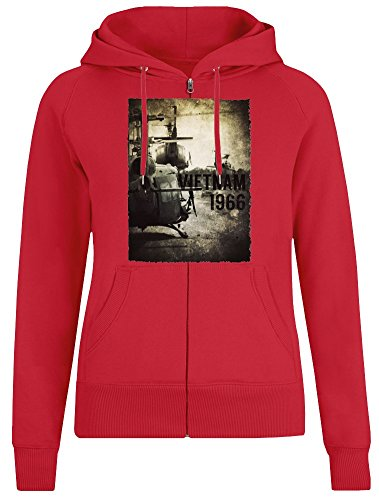 Vietnam Hubschrauber - Vietnam Helicopter Zipper Hoodie Jumper Pullover for Women - 100% Soft Cotton DTG Printing Womens Clothing Medium