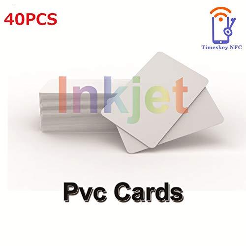 Inkjet Printable PVC ID Cards Kompatibel Mit Epson und Canon Inkjet Drucker, CR80 30 MIL Dicke Wasserdichtes Material, Beide Seiten Können Bedruckt Werden (40 Stück) – TimesKey