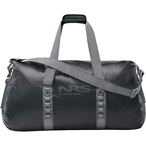 NRS High Roll Duffel Dry Bag, 70L Flint Black One Size