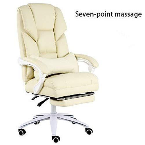 Warme room gamingstoel, thuis voor het werk op een bureaustoel, massage voor gamers, met ergonomische nylon voetjes.