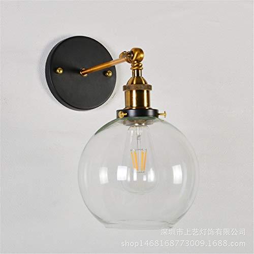 Retro American glazen wandlamp vensterbank woonkamer restaurant café creatieve verlichting