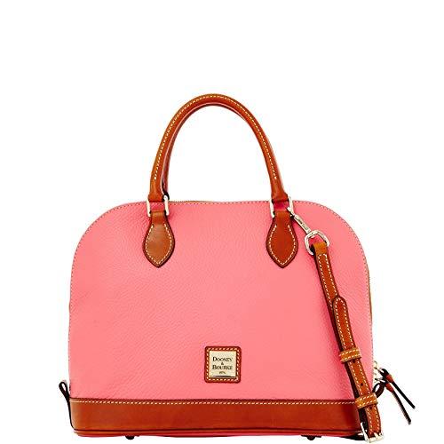 Dooney & Bourke Reißverschluss Reißverschluss Ranzen Pebbled Leder Schultertasche Handtasche, Pink (Bubble Gum), Medium