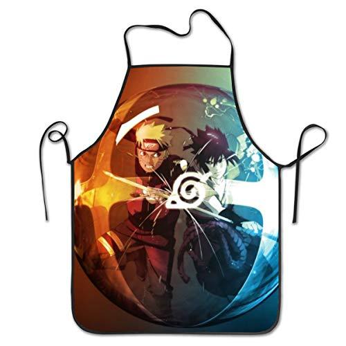 JJKKFG-H Uzumaki Naruto Sasuke Tablier en polyester pour homme et femme Idéal pour les filles et les filles