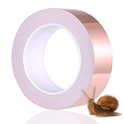 MOGADEE Kupferband Selbstklebend, Kupferfolie Klebeband, Selbstklebend Abschirmband, Kupferfolie Kupferband Selbstklebend Klebeband Schneckenband Schneckenschutz(20 mm X 20 m)