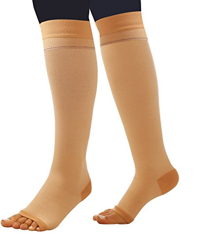 Comprezon Cotton Varicose Vein Stockings Class 2-Below Knee-Small(For ankle circumference of 19-23 cm)-1 Pair