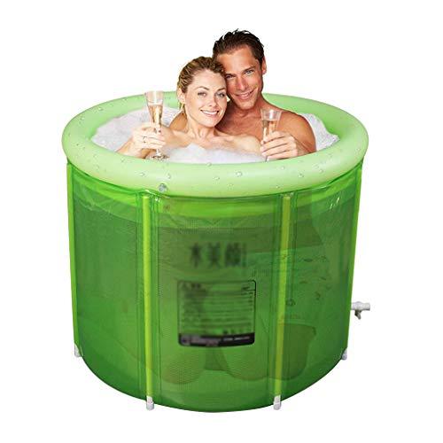 ZHYXJ-Bathtub Doppelte Aufblasbare Badewanne üBergroßE Erwachsene Falten Badewanne Verdickung Kunststoff Badewanne-Spa Eimer-Kinder Pool 100x80 cm