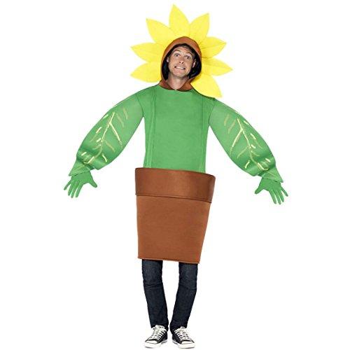 Jumpsuit Blume Kostüm Sonnenblume unisex ausgefallenes Ganzkörperkostüm Faschingskostüm Blümchen Gärtnerin Kostüm Blumentopf Karnevalskostüm Sonnenrose
