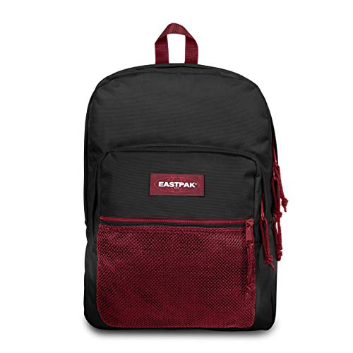 Eastpak Pinnacle Rucksack, 42 cm, 38 L, Schwarz (Blakout Strip Red)