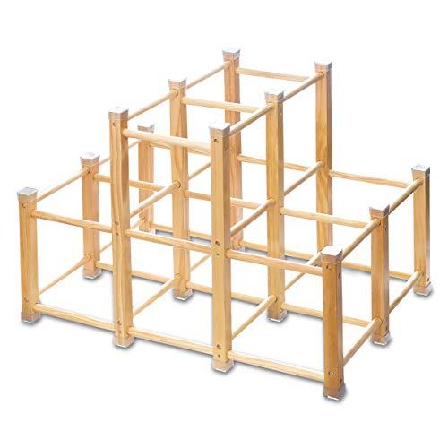 RiZKiZ 木製 ジャングルジム 耐荷重50kg 天然木 省スペース コーナーガード 滑り止め 室内 家庭用 頑丈 ア...