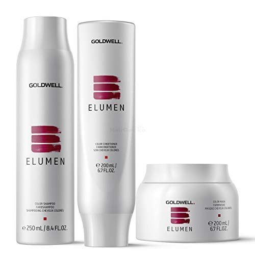 Goldwell Elumen Care Set - Shampoo Farbshampoo 250ml + Conditioner Farbconditioner 200ml + Mask Farbmaske 200ml