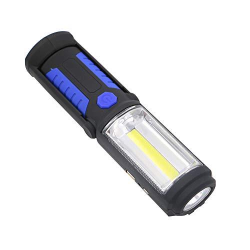 Lampada da lavoro COB LED magnetica luce da lavoro auto garage meccanico casa ricaricabile torcia lampada per esterno blu stile batteria 1 pz luci esterne montaggio a parete bianco