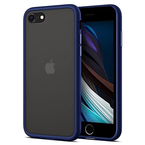 ChargeTie Cover antiurto per iPhone 7/8/SE 2020, trasparente, in morbido TPU, antiurto, colore: blu