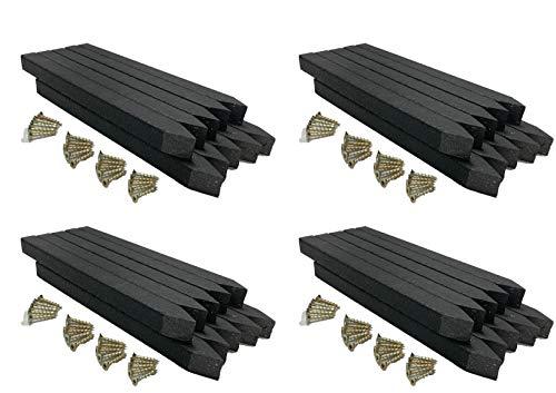 Erdspieße - Teichrandpfähle - 40 St. - für Beeteinfassung und Teichrand - schwarz