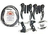 eRadius BMX VTT V leviers de Freins Set + Alliage + câbles (Avant + arrière) + V Accessoires de Étrier de Frein