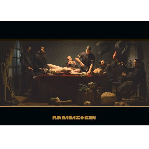 Rammstein Poster LIFAD Album Cover Mehrfarbig, Offizielles Band Merchandise Fan Plakat
