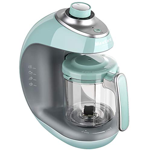 Maxkare Baby Food Maker | Meal Station with Toddlers With Steam, Blend, Chop, Disinfect, Clean Function, 20 Oz Tritan Stirring Cup,Built in Timer,Fashion knob,LUV-SPO Steam Cooker and Blender Process