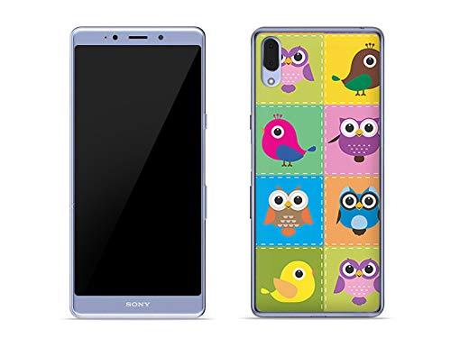 etuo Hülle für Sony Xperia L3 - Hülle Fantastic Hülle - Bunte Vögel Handyhülle Schutzhülle Etui Hülle Cover Tasche für Handy