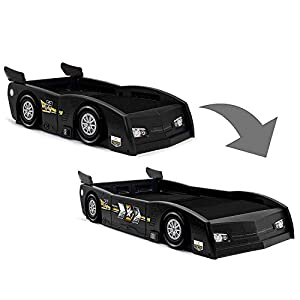 Delta Children Grand Prix Race Car Toddler & Twin Bed – Made in USA, Black