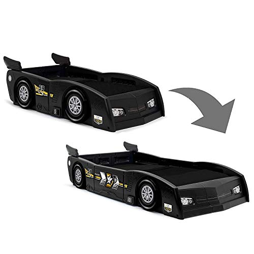 Delta Children Grand Prix Race Car Toddler & Twin Bed - Made in USA, Black